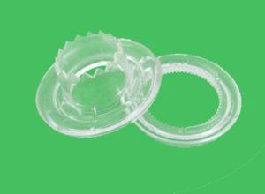 Ollaos y Arandelas Transparentes 12mm Dentados