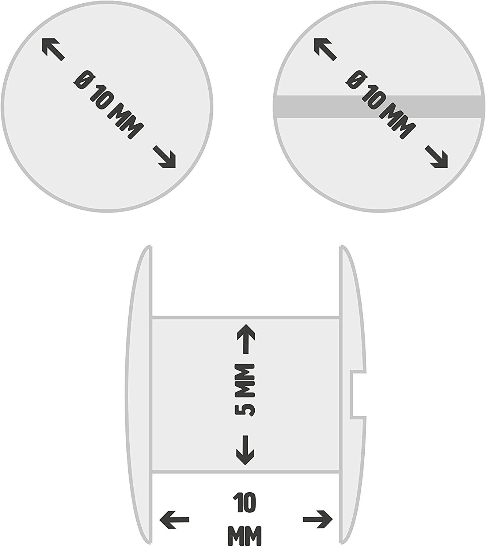 Tornillos Encuadernación Metálicos Níquel 10mm
