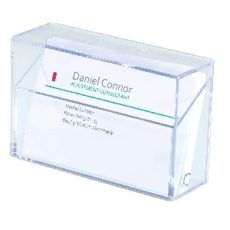 caja transparente para tarjetas