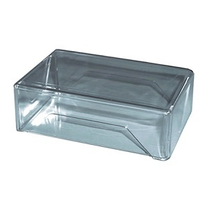 caja tarjeta plastica transparente 2 partes