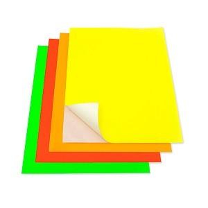 Papel Fluorescente Auto-adhesivo