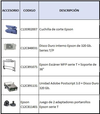 accesorios epson t5200