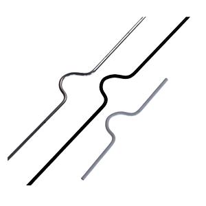 Colgadores para Calendarios Estándar 400mm en colores: Plata, Negro y Blanco y servidos en blisters de 150 o 1500 colgadores.